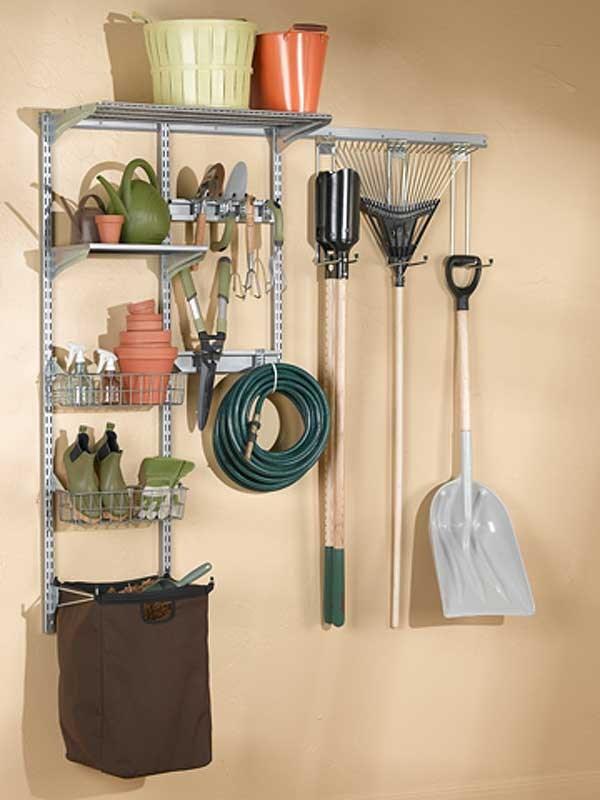 garden tool wall storage. hanging tool organizer, garden organizer wall system storage