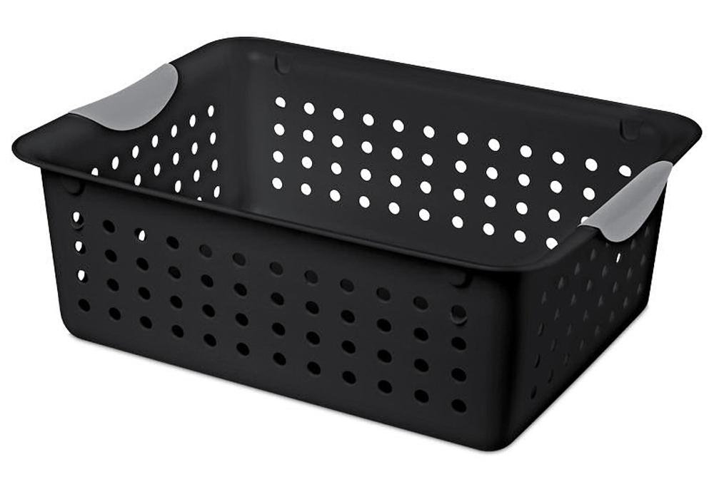 Collapsible Storage Crate   Gray, Storage Basket   Black ...