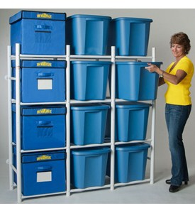Storage Bin Shelving System - Compact Image