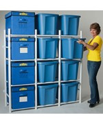 Storage Bin Shelving System - Compact