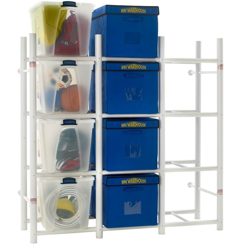 Storage Bin Shelving System In Plastic Storage Bins