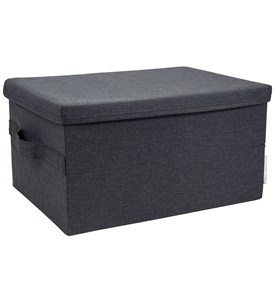 Storage Box with Lid - Black Image