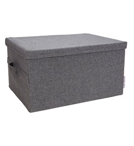 Storage Box with Lid - Gray Image