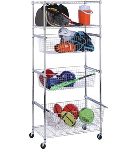 Storage Rack with Baskets Image