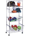 Storage Rack with Baskets
