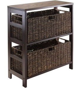 Storage Shelf with Baskets Image