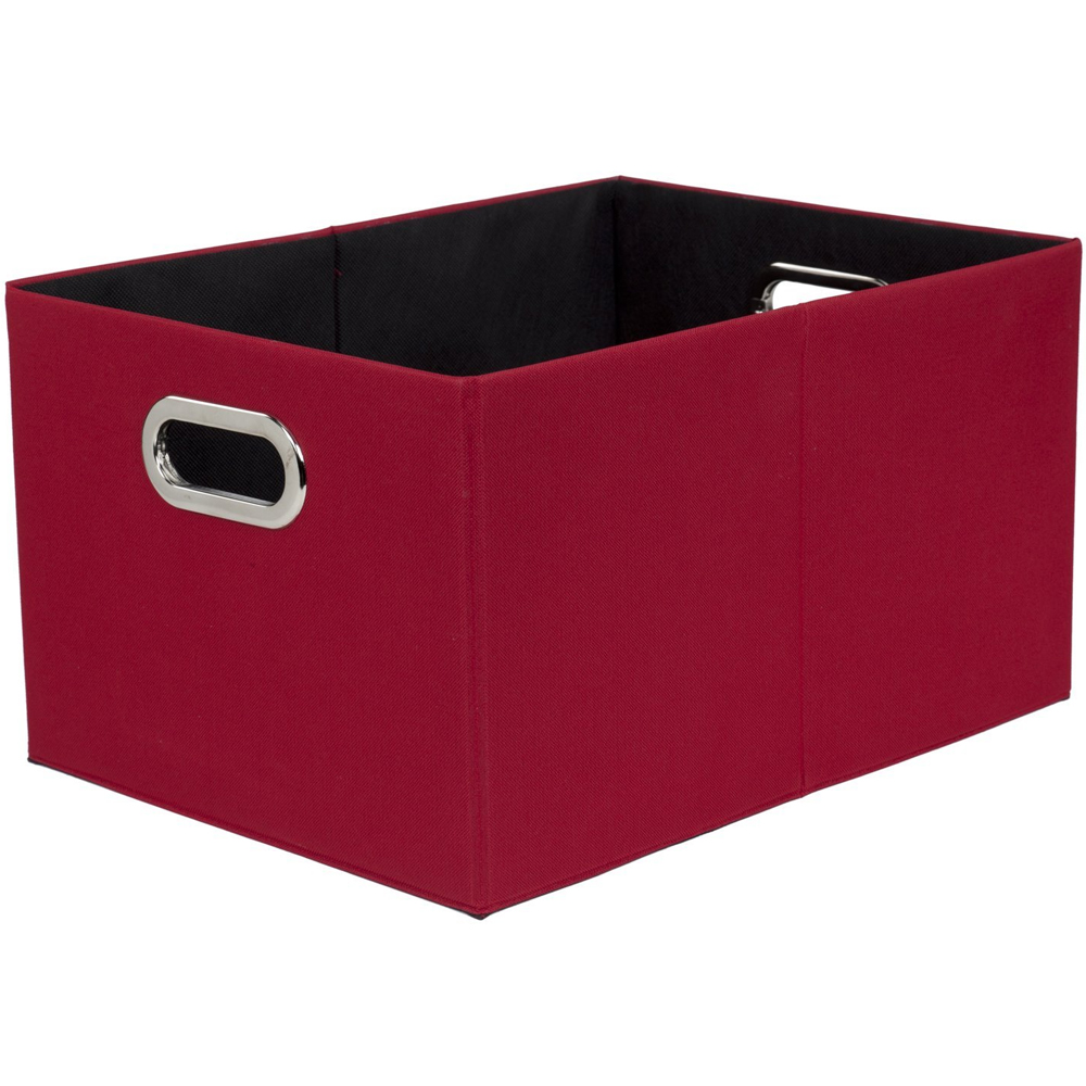 Red plastic bins