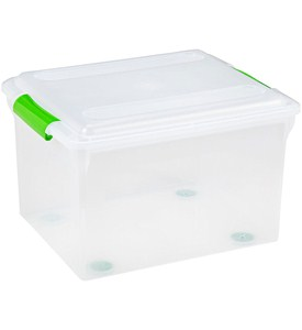 Store and Slide Plastic File Box Image