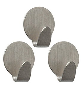 Strong Magnetic Hooks - Brushed Nickel (Set of 3) Image
