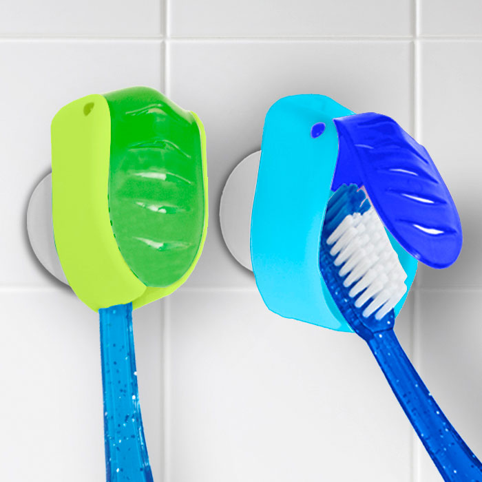 suction cup toothbrush holder set of 2 in toothbrush holders. Black Bedroom Furniture Sets. Home Design Ideas