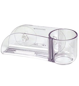 Dish Brush Holder - Clear Acrylic Suction Image