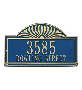 Sunburst Lawn Address Plaque - Two-Line Image