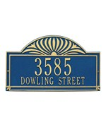 Sunburst Lawn Address Plaque - Two-Line