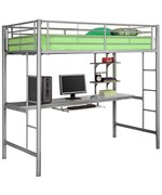 Sunrise Workstation Bunk Bed - by Walker Edison