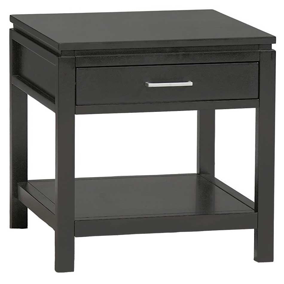 sutton black end table by linon home decor price