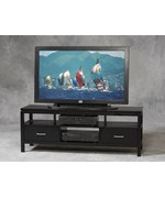 Sutton Black Plasma TV Tower by Linon Home Decor