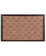 Synthetic Weave Rubber Door Mat by Imports Decor