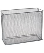Home shop storage cabinets md stationary mesh security cabinet with - Tabletop Mesh File Organizer Silver Price 19 99