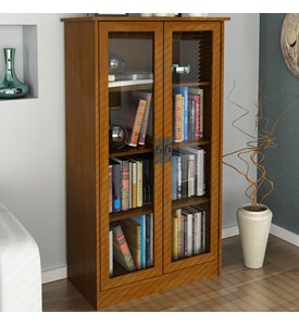 Tall Bookcase with Glass Doors Image