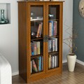 Tall Bookcase with Glass Doors