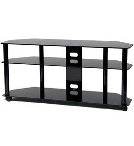 Tall LED / LCD TV Stand with Casters by TransDecor Image