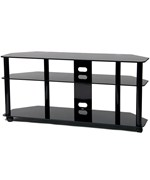 Tall LED / LCD TV Stand with Casters by TransDecor