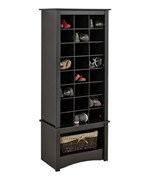 Tall Shoe Cubbie Cabinet - Black