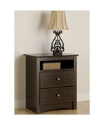 Tall Two Drawer Night Stand - Fremont