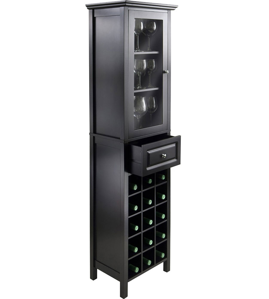 Tall wine cabinet in wine cabinets for Cupboard or cabinet
