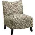 Tan Swirl Fabric Accent Chair by Monarch Specialties