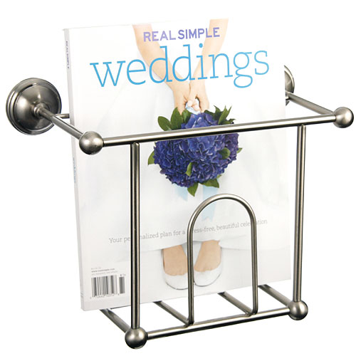 Wall Hanging Magazine Rack wall mount magazine rack - satin nickel in wall magazine racks