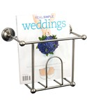 Wall Mount Magazine Rack - Satin Nickel