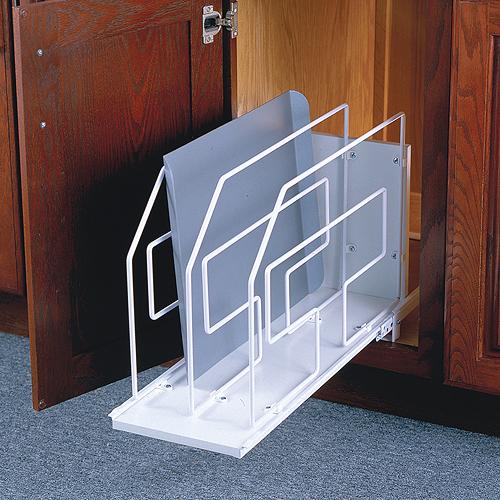 Marvelous ... Kitchen Cabinets Ideas Kitchen Cabinet Divider Rack : Cookware Storage  Racks And Holders   Organize  ...