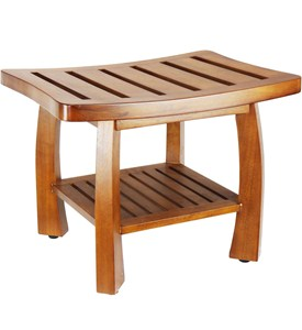 Teak Wood Shower Bench Image
