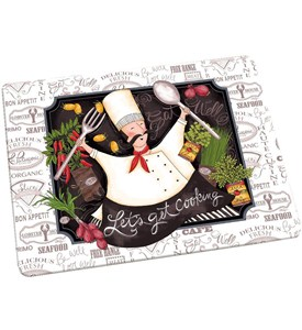 Tempered Glass Cutting Board - Happy Chef Image