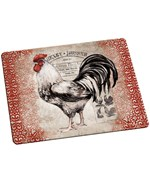 Tempered Glass Cutting Board - Rooster