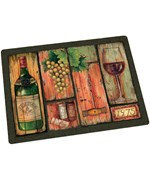 Tempered Glass Cutting Board - Wine Country