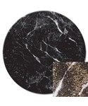 Tempered Glass Lazy Susan - Black Marble