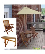 Terrace Mates Bistro Deluxe 7.5 Ft. Sunbrella Set by Blue Star Group