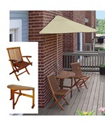 Terrace Mates Caleo Deluxe 7.5 Ft. Olefin Set by Blue Star Group