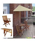 Terrace Mates Villa Deluxe 7.5 Ft. Sunbrella Set by Blue Star Group