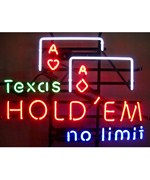 Texas Hold Em Neon Sign by Neonetics