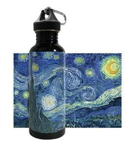 Stainless Steel Water Bottle - Starry Night Image