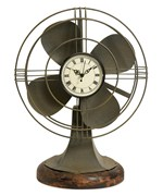 Thatcher Vintage Fan Clock by Imax