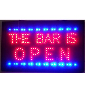 The Bar Is Open LED Sign Image