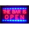The Bar Is Open LED Sign