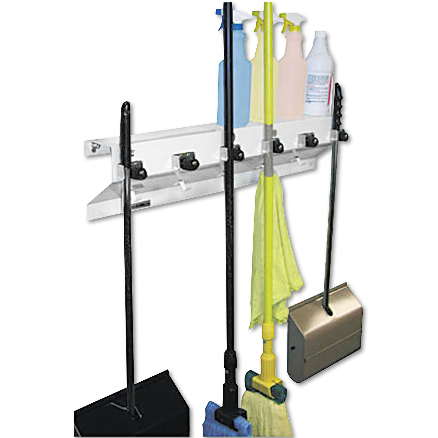 mop and broom organizer the clincher mop and broom holder - Broom Holder