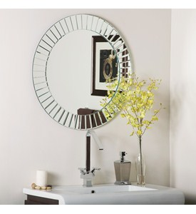 The Glow Modern Frameless Wall Mirror Image