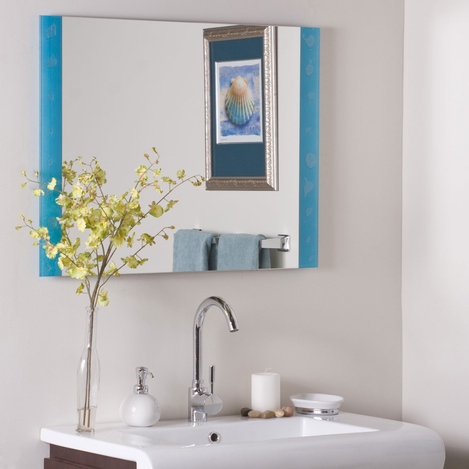 The spa frameless bathroom mirror by decor wonderland in for Bathroom mirror design