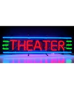 Theater Red, Green & Blue Neon Sign by Neonetics